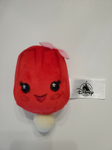 New Disney Parks Wishables Snacks Food Strawberry Ice Pop Pink Bow Red P... - $14.84