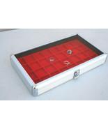 Aluminum Jewelry /  Watch Display Case Box Glass Top Display Storage Ho... - $38.65