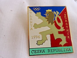 Czech Republic Atlanta 1996 Olympic Games Pin Pinback - $8.54