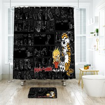 Cartoon 49 Shower Curtain Waterproof Polyester Fabric & Bath Mat For Bathroom - $15.30+