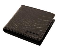 Calvin Klein Ck Men's Leather Wallet Id Billfold With Coin Case Brown 79600