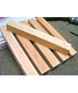 SIX Pecan turning blanks, 12 inches x 1 1/2 bz - $21.98