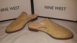 New in box Nine West women's slip on mule tan suede shoes oxfords - $39.50
