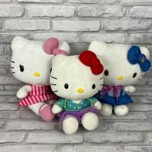 "Sanrio Hello Kitty Lot of 3 Cute Soft Plush 10""-11"" Medium - $20.89"