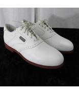 Vintage FootJoy DryJoys Golf Shoes Womens 7 Sympatex White Oxfords Metal... - $66.79