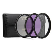 Vivitar 3-Piece Multi-Coated Glass Filter Kit (49mm UV/FLD/CPL) - $39.99