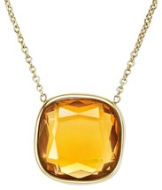 Michael Kors Gold-Tone and Citrine Pendant Necklace MKJ4234 BNWT $115 - $79.75