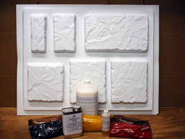 DIY Concrete Wall Cap Molds Kit - Paver Making Kit With 24 Molds & All Supplies image 1