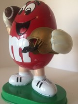"FOOTBALL MARS M&M CANDY DISPENSER RED TOY VINTAGE 9"" - $13.86"