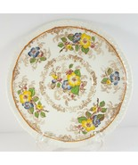 "Ridgways Apple Blossom Brown Underplate for Cream Soup 6.5"" Saucer - $7.92"
