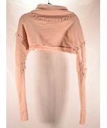 Alo Womens Crop Top Turtleneck Pink S Yoga - $39.60