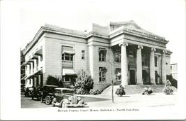 Vtg RPPC 1930s Kodak Calle Vista Con Coches Rowan County Court Casa Salisbury Nc - $36.88