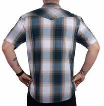 Levi's Men's Cotton Casual Button Up Short Sleeve Shirt Plaid Teal 3LYLW6082 image 3