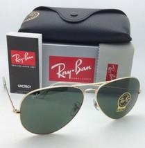 RAY-BAN Sunglasses LARGE METAL Aviators RB 3025 001 62-14 Gold Frame w/ G15 lens