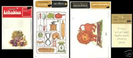 Transfers Decoupage Lion Kitchen Decor Fruit PATRICIA NIMOCK LOT OF 4 - $8.90