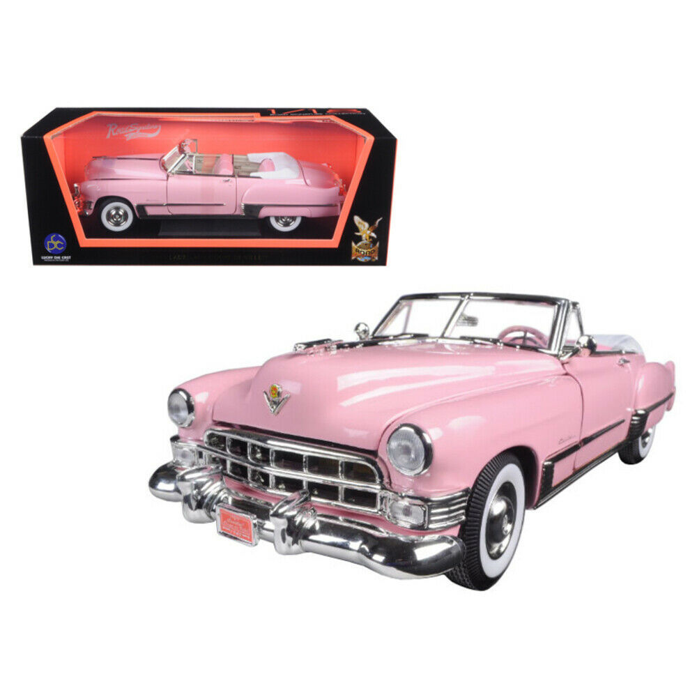 1949 Cadillac Coupe De Ville Convertible Pink 1/18 Diecast Model Car by Road ... - $63.94