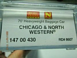 Micro-Trains # 14700430 Chicago & North Western 70' Heavyweight Baggage N-Scale image 5