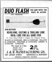 1964 Print Ad Duo Flash Fishing Lures with Built in Action J&R Mfg Louis... - $7.15