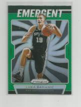 LUKA SAMANIC (Spurs) 2019-20 PANINI PRIZM BASKETBALL GREEN PRIZM EMERGEN... - $9.46