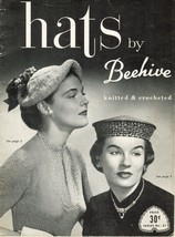 Vtg Crochet Knit Hats By Beehive Fedora Mandarin Pill Box Beret Sailor P... - $16.99