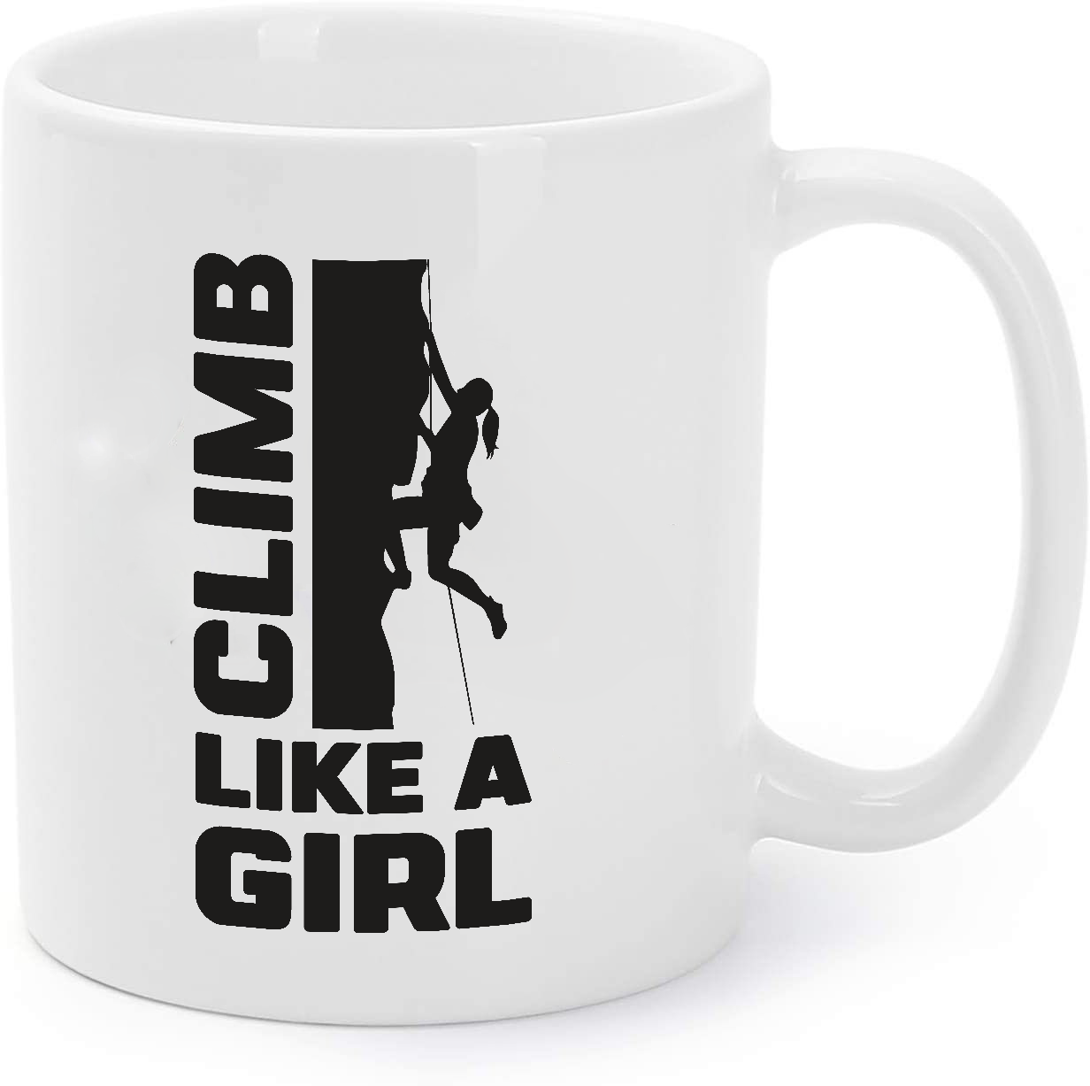 Primary image for Girl Climber Coffee Mug Rock Climbing Coffee Mug Climb Like a Girl