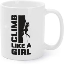 Girl Climber Coffee Mug Rock Climbing Coffee Mug Climb Like a Girl - $16.95