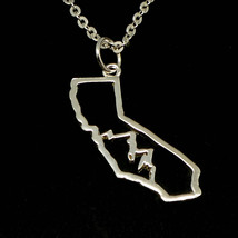 Handmade 925 Sterling Silver California State Mountain Rance Necklace 16... - $69.00