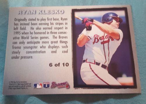 1996 Fleer Metal Platinum Portraits #6 Ryan Klesko Atlanta Braves Baseball Card