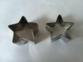 Set of 2 Aluminum Star Cookie Cutters - $9.89