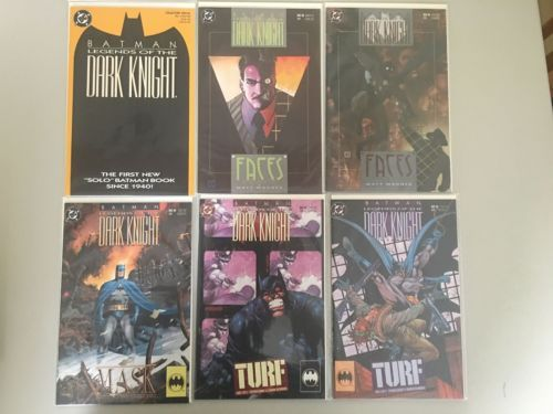 Lot of 6 Batman Legends of the Dark Knight (1989) #1 28 30 40 44 45 NM Near Mint
