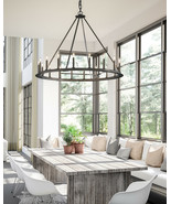 NEW Restoration Hardware Replica Round Transitional Chandelier Farmhouse... - $983.94