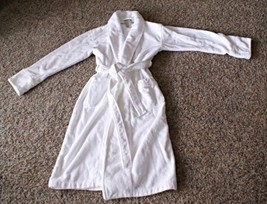 Pottery Barn White Cotton Terry Robe Heavy M / ... - $49.49