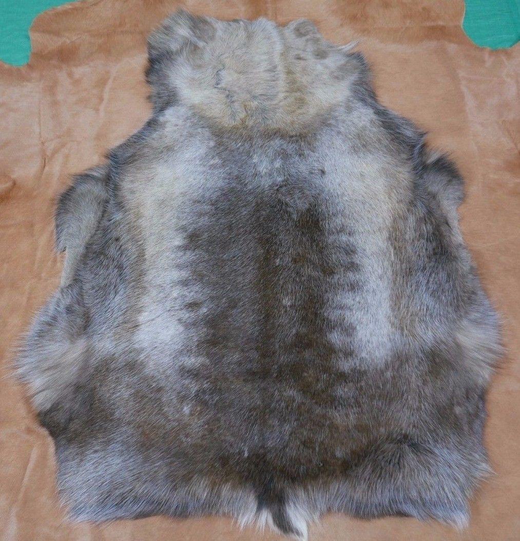 "Reindeer Skin from Scandinavia Size: 50"" X 35"" Genuine Reindeer Skin D-766 - $167.31"