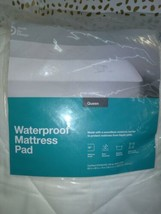 Waterproof Mattress Pad Queen White - Made By Design image 2