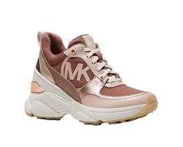 Michael Kors Women's Mickey Trainer Tech Canvas Dark Fawn Sneaker Shoes image 2