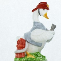 Vintage EIC 1986 Porcelain Occupational Goose Figurine Country Fireman