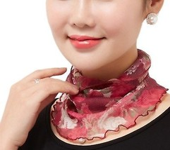 VIVOSKY Silk Scarf Mesh Grenadine Detachable Collar Gauze Scarf - $19.85