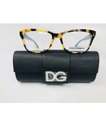 New Dolce Gabbana DG 3215 2891 Yellow Havana & Green Eyeglasses 54mm wit... - $173.25