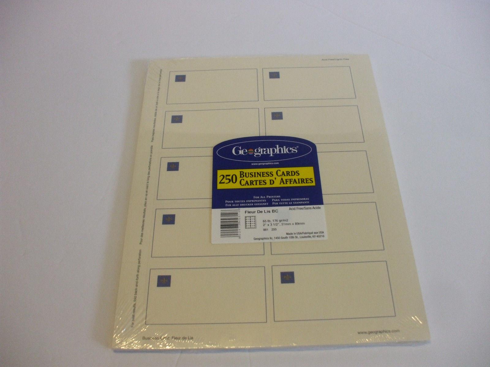 250 DIY Business Cards Fleur De Lys Embossed and 50 similar items