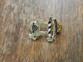 N.S.MEYR Inc New York Pin BROOCH The Second First Horse Gold Tone Rare EUC - $30.00
