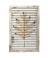 Maple Leaf Window Shutter Wall Dcor, Nearly Natural - $52.42
