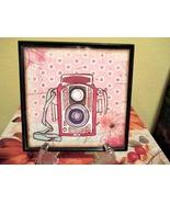 Framed Vintage Camera Home Decor Wall Hanging/S... - $6.00