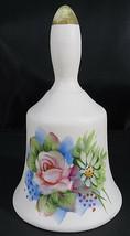 "Vintage Bell Hand Painted Lefton JAPAN Flowers 428 Bisque Porcelain 4 1/2"" - $20.00"