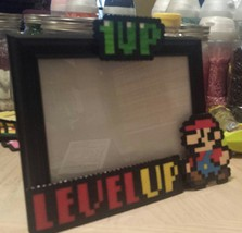 """Level Up"" Super Mario Bros Photo Frame, Birthd... - $15.00"