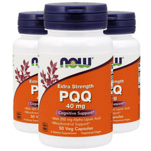 Now Foods PQQ 40mg with 200mg 3X50Caps Mitochondrial Extra Strength Alpha Lipoic - $68.26