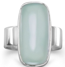 Oval Green Chalcedony Ring - $44.97