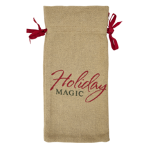 BURLAP NATURAL Wine Bag - Soft Cotton - Holiday Magic - Country - VHC Brands