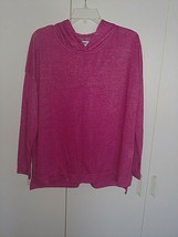 Old Navy Ladies Ls Thin Hot Pink Ls HOODIE-WORN ONCE-CUTE-COMFY-RAYON/POLYESTER - $8.99