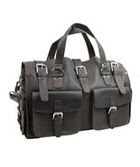 "Vagarant Traveler 18"" Spacious Cowhide Leather Travel Bag L100 - $452.00"