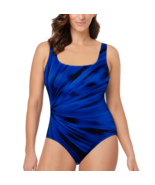 Le Cove Solid One Piece Swimsuit Size 8, 10 Msrp $86.00 New Blue - $39.99